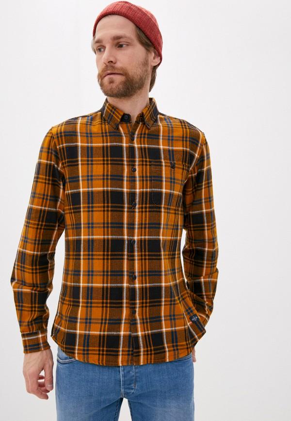 мужская рубашка с длинным рукавом tiffosi, оранжевая