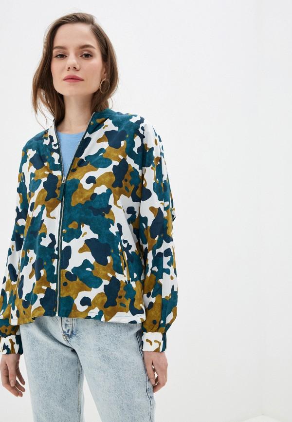 женская куртка tiffosi, зеленая