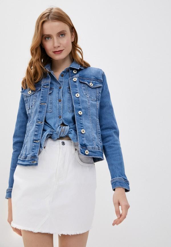 женская джинсовые куртка tiffosi, синяя