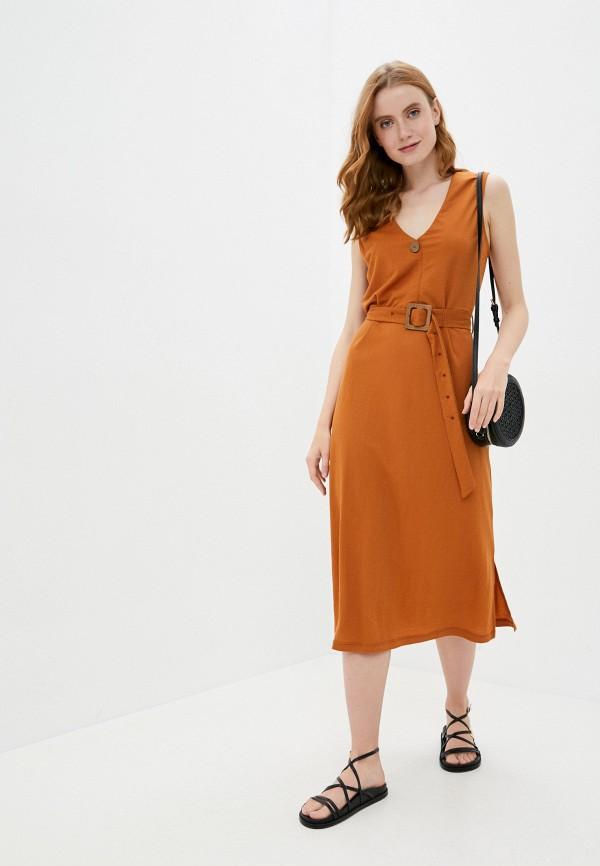 женское повседневные платье tiffosi, коричневое