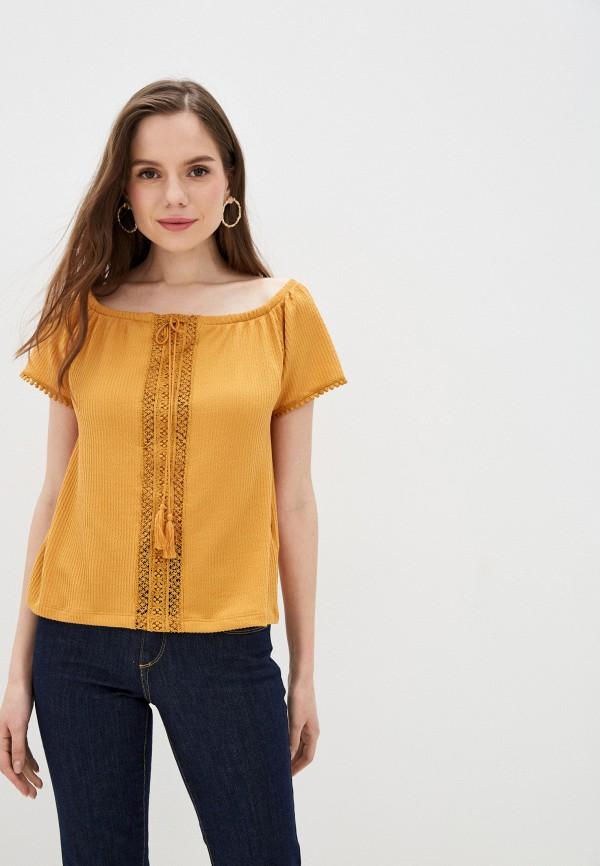 женская блузка tiffosi, желтая