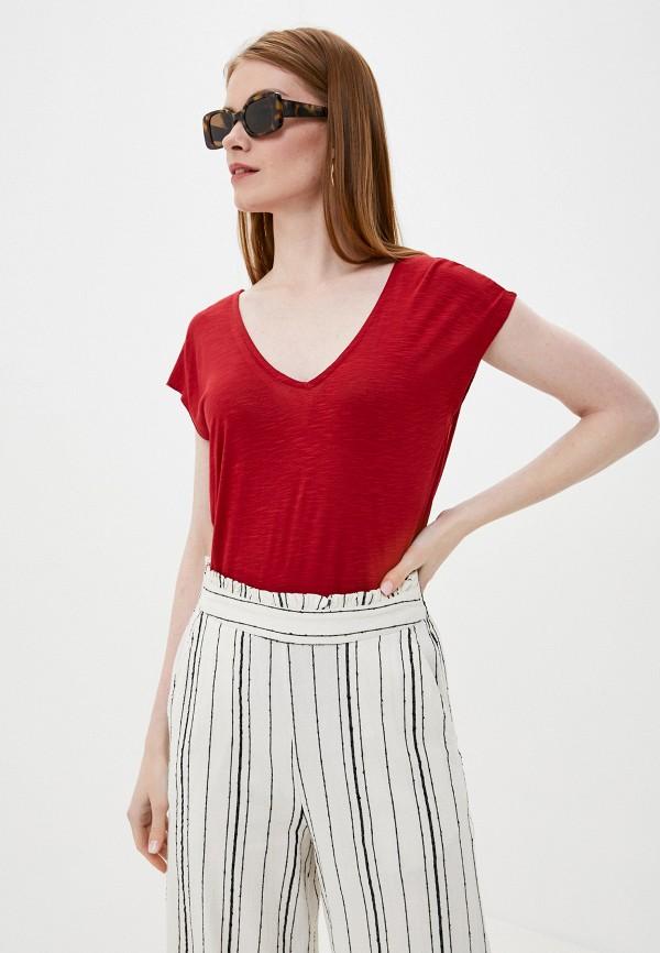 женская футболка tiffosi, красная