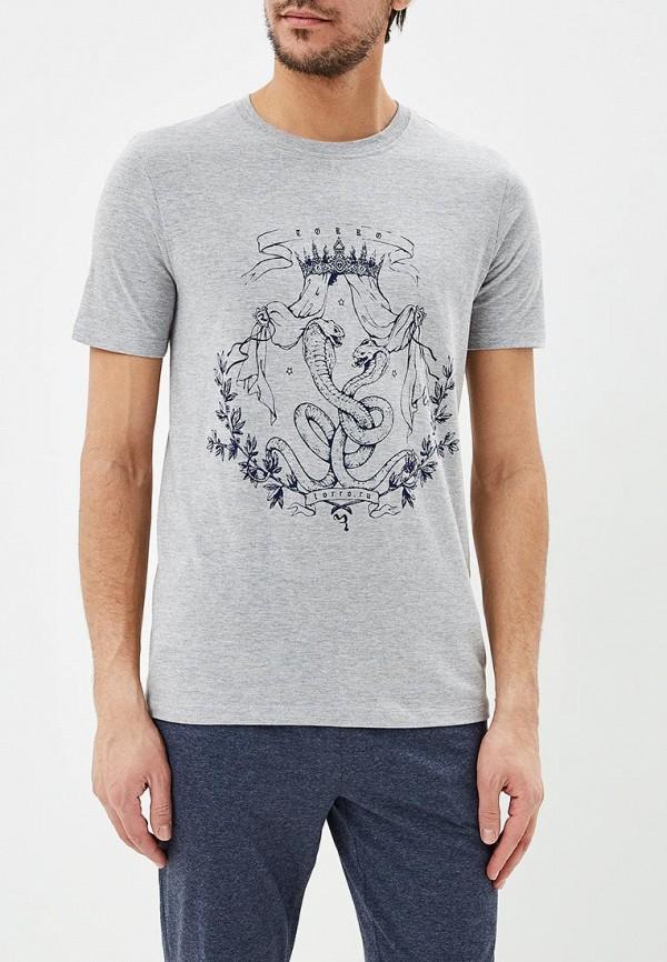 мужская футболка с коротким рукавом torro, серая
