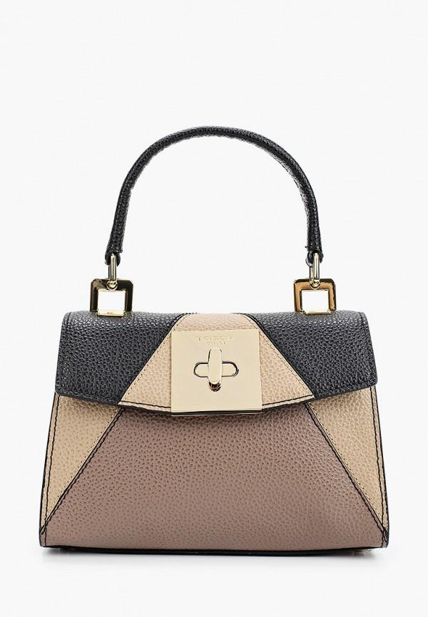 женская сумка через плечо tosca blu, бежевая