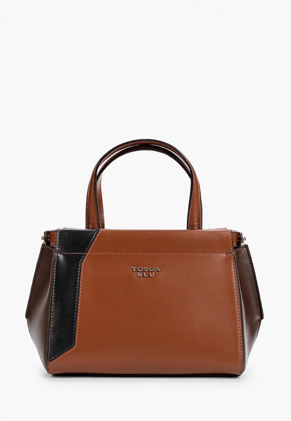женская сумка через плечо tosca blu, коричневая