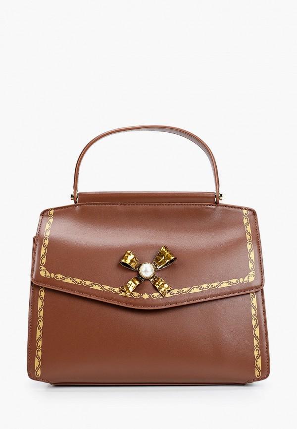 женская сумка с ручками tosca blu, коричневая