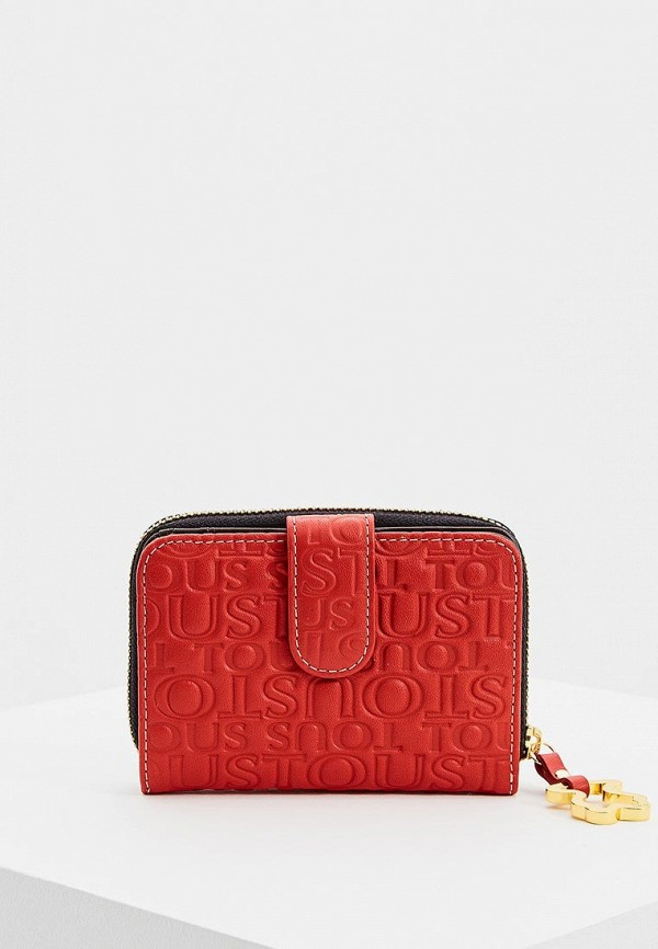 женский кошелёк tous, красный