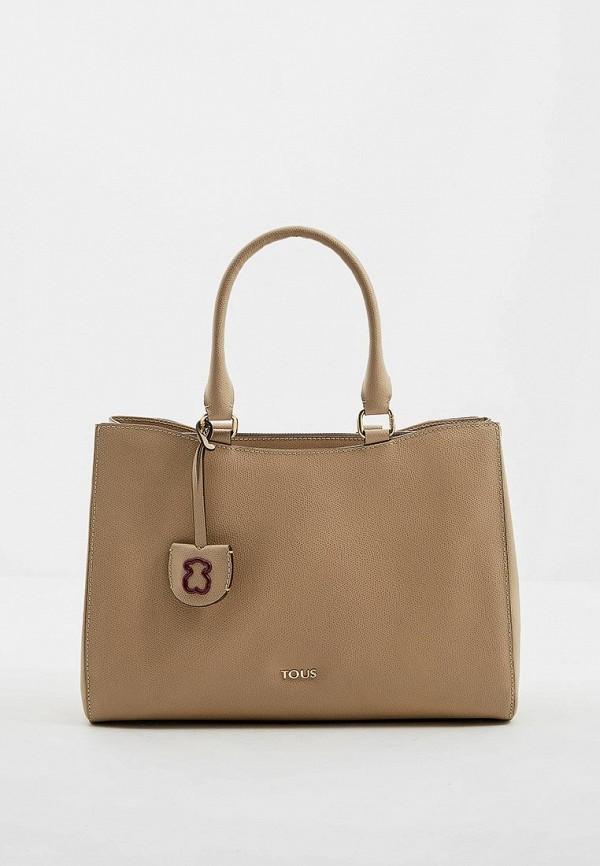 женская сумка tous, бежевая