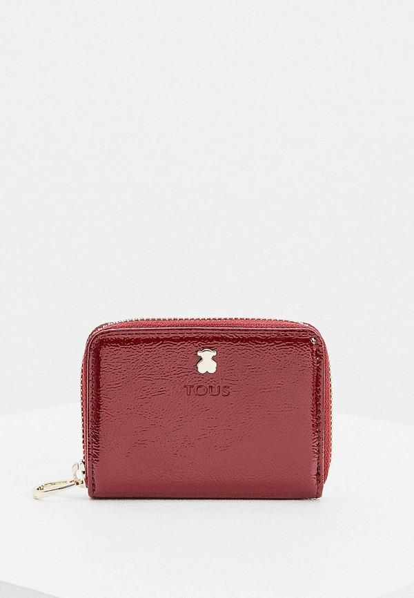 женский кошелёк tous, бордовый