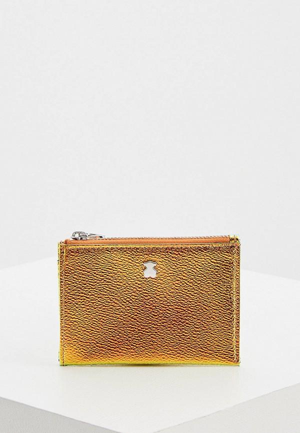 женский кошелёк tous, золотой