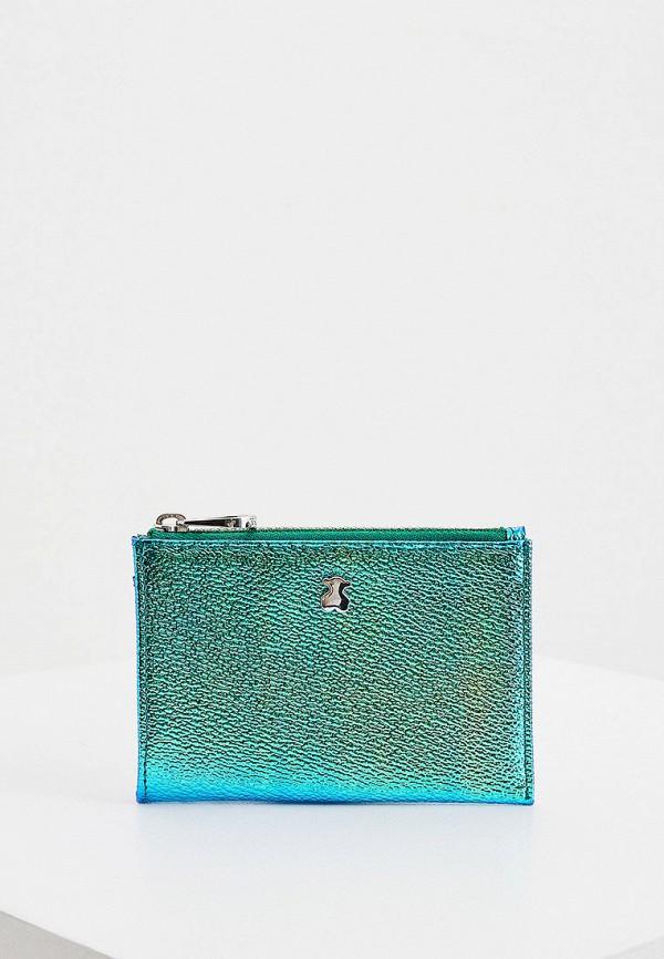 женский кошелёк tous, зеленый