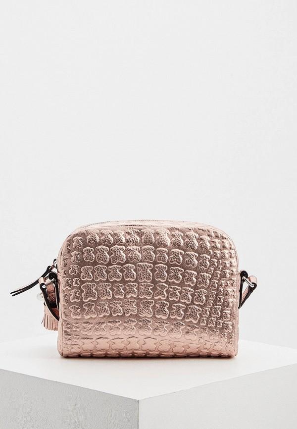 женская сумка tous, розовая