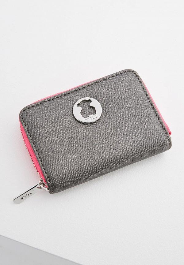 женский кошелёк tous, серебряный