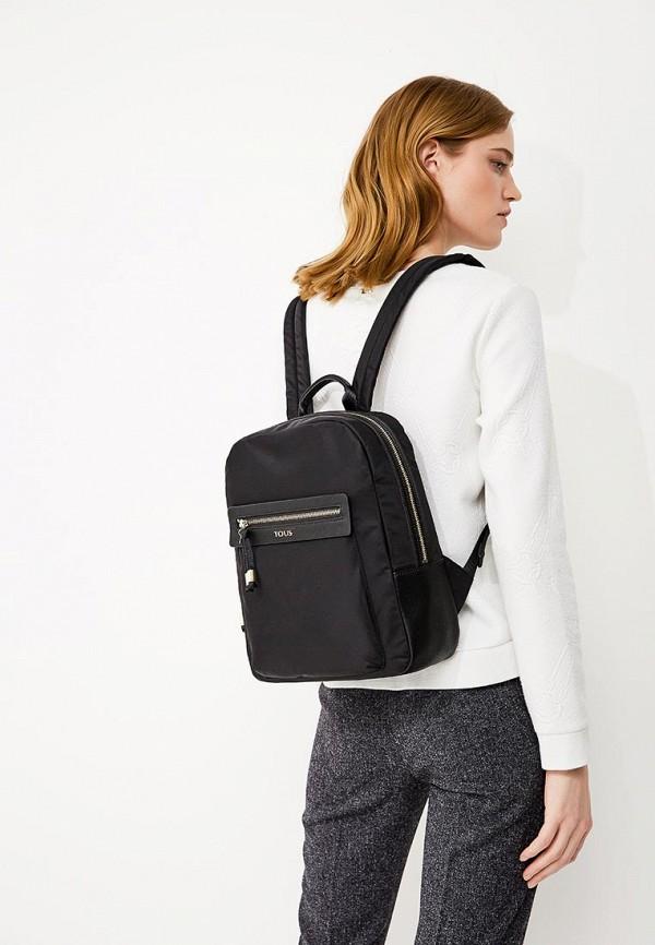 Фото 5 - женский рюкзак Tous черного цвета
