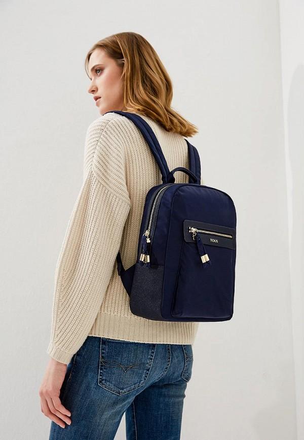 Фото 6 - женский рюкзак Tous синего цвета