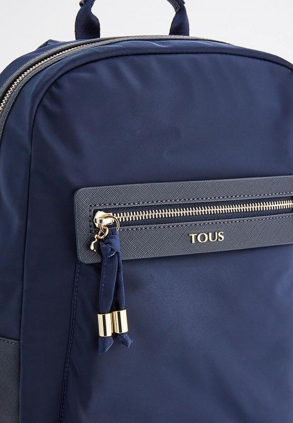 Фото 4 - женский рюкзак Tous синего цвета