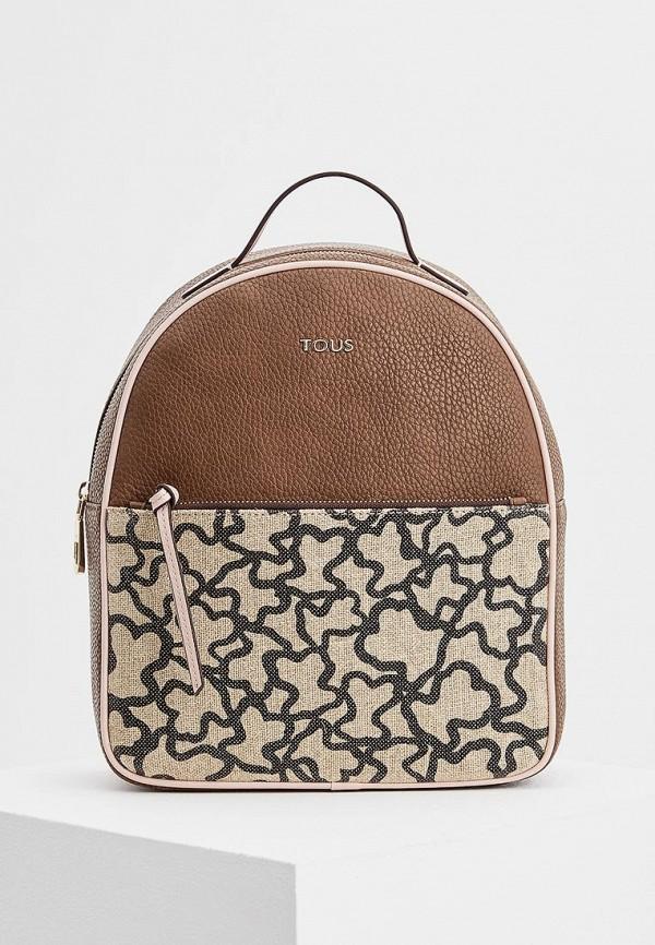 Фото - женский рюкзак Tous коричневого цвета