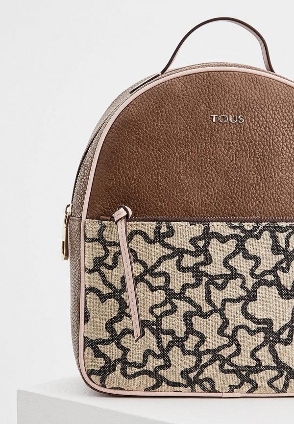 Фото 3 - женский рюкзак Tous коричневого цвета