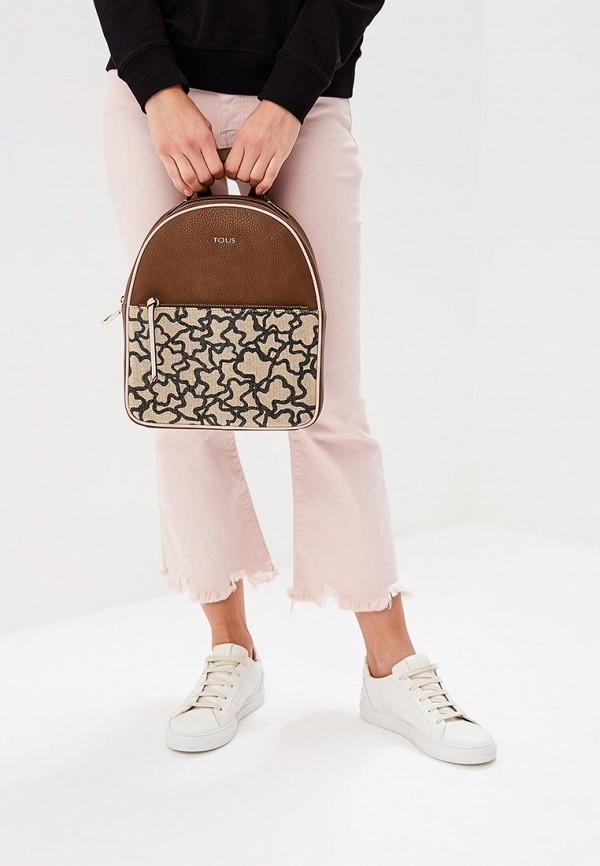 Фото 5 - женский рюкзак Tous коричневого цвета