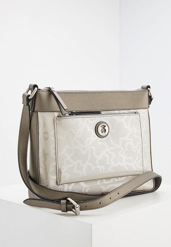 женская сумка tous, серебряная