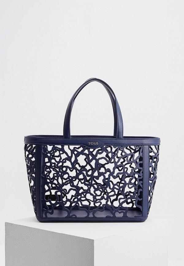 Фото - женскую сумку Tous синего цвета