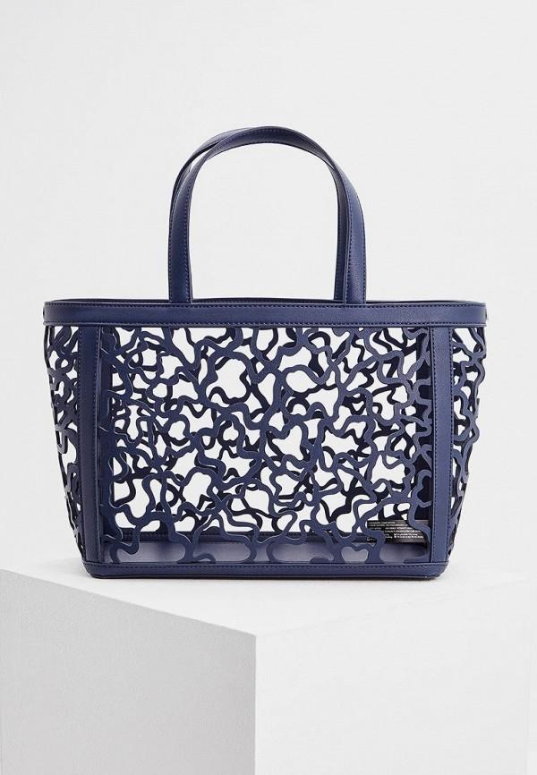 Фото 2 - женскую сумку Tous синего цвета