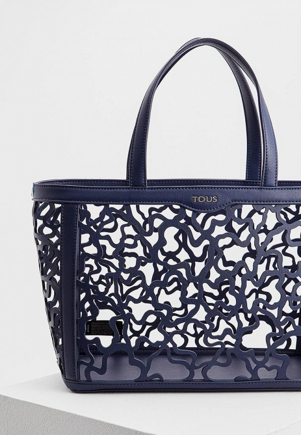 Фото 3 - женскую сумку Tous синего цвета