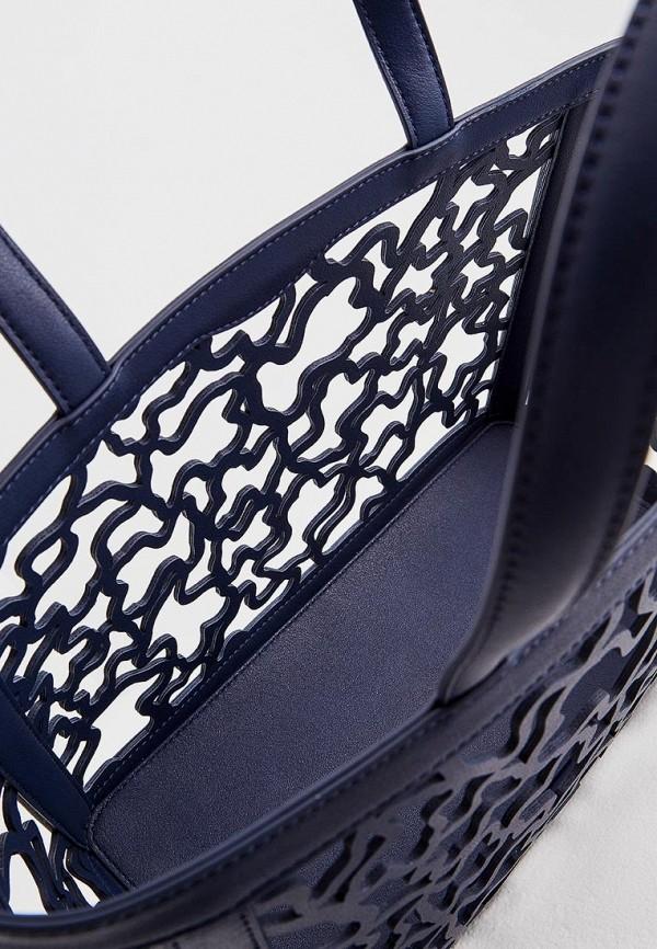 Фото 4 - женскую сумку Tous синего цвета