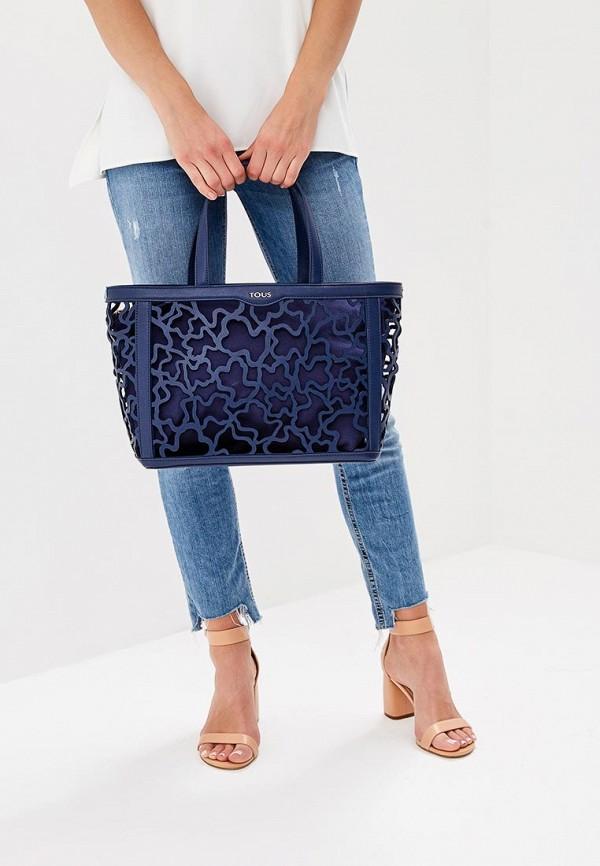 Фото 5 - женскую сумку Tous синего цвета