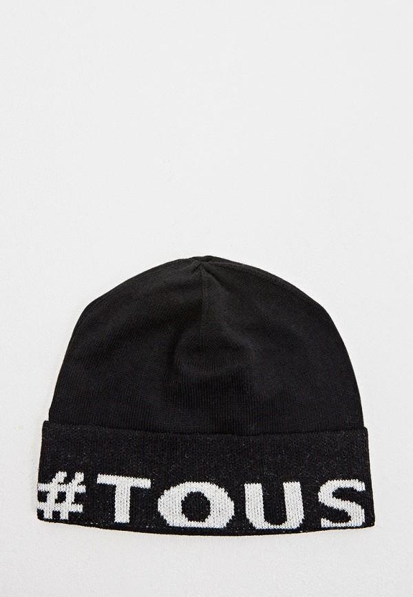 женская шапка tous, черная
