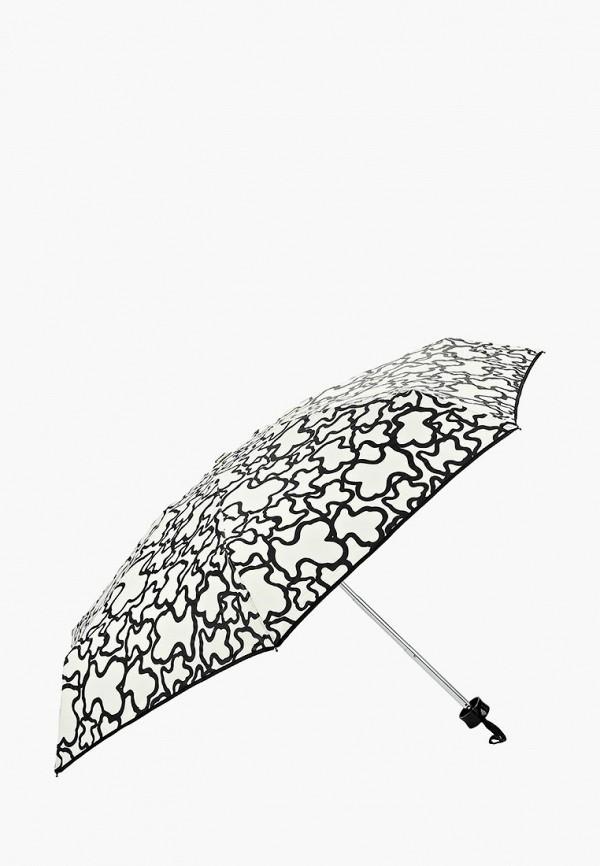Фото 2 - Зонт складной Tous бежевого цвета