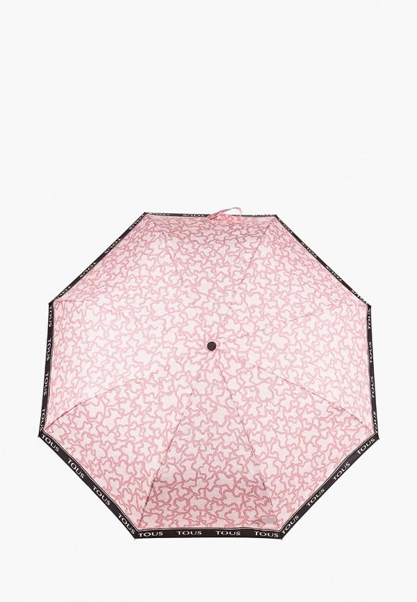 женский складные зонт tous, розовый