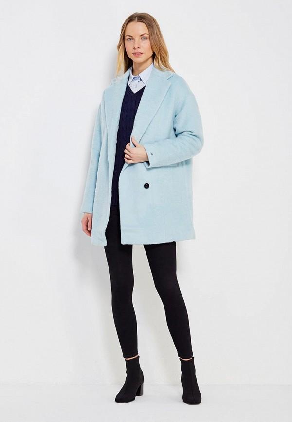 Фото 2 - женское пальто или плащ Tommy Hilfiger Denim голубого цвета