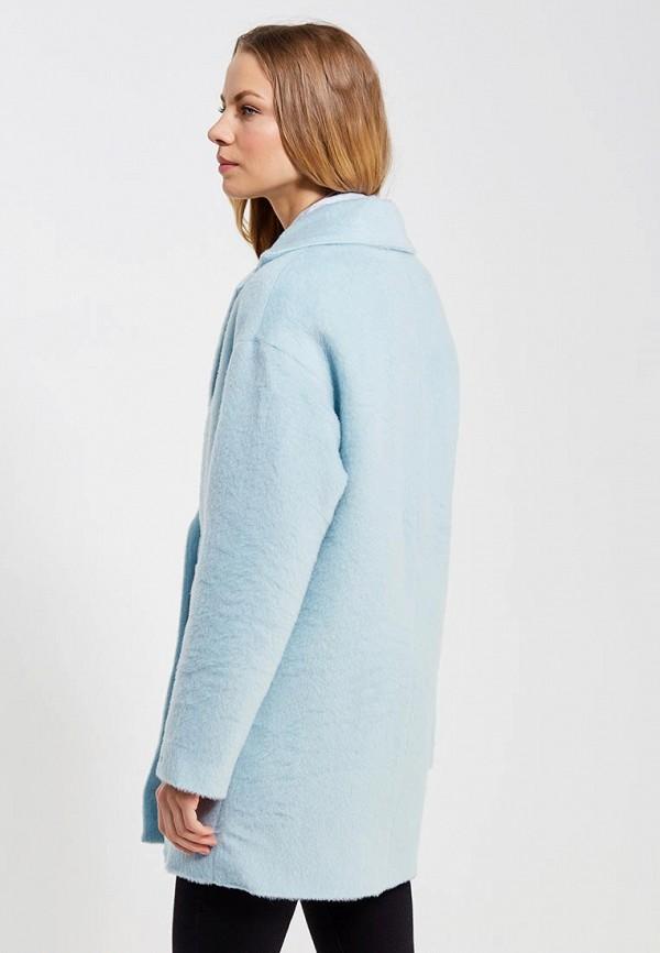 Фото 3 - женское пальто или плащ Tommy Hilfiger Denim голубого цвета