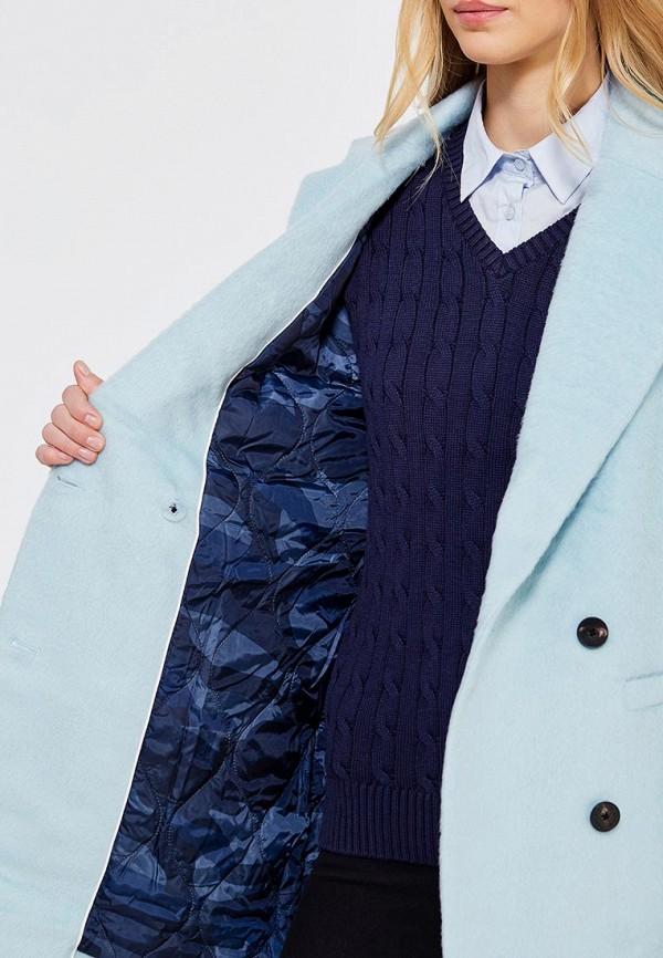 Фото 4 - женское пальто или плащ Tommy Hilfiger Denim голубого цвета