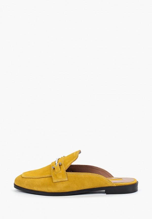 женское сабо topshop, желтое