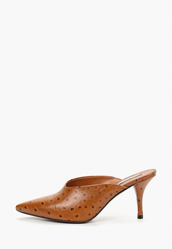 женское сабо topshop, коричневое