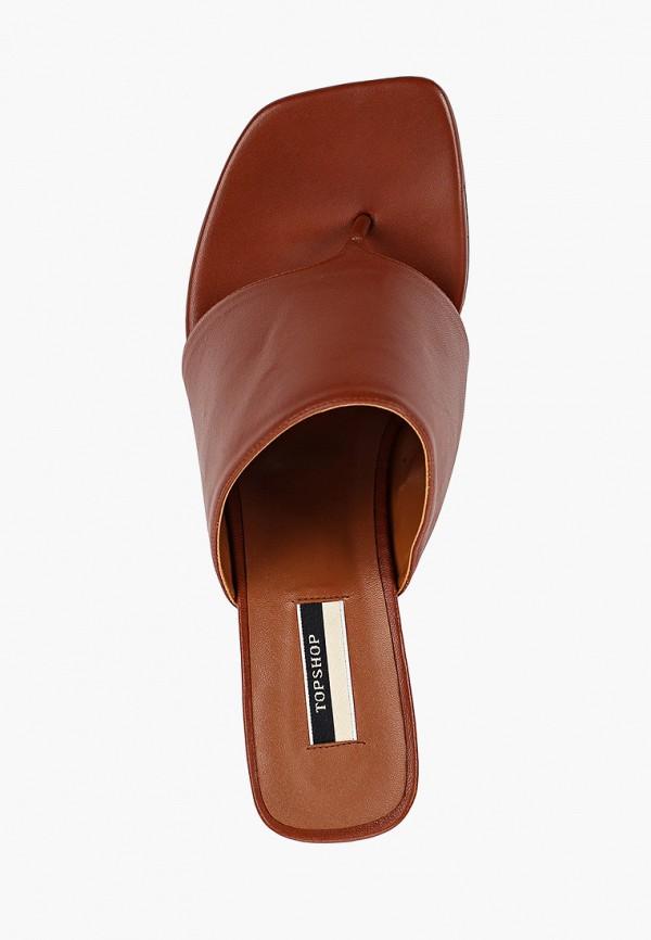 Фото 4 - женские сабо Topshop коричневого цвета