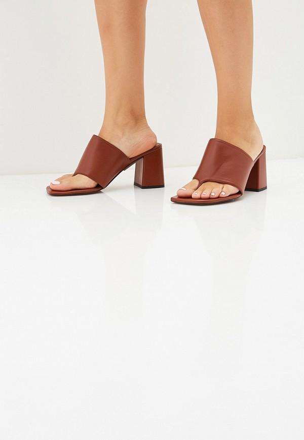 Фото 6 - женские сабо Topshop коричневого цвета