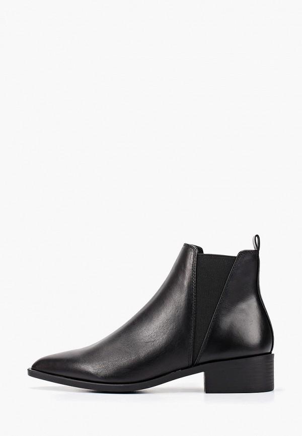 женские ботинки topshop, черные
