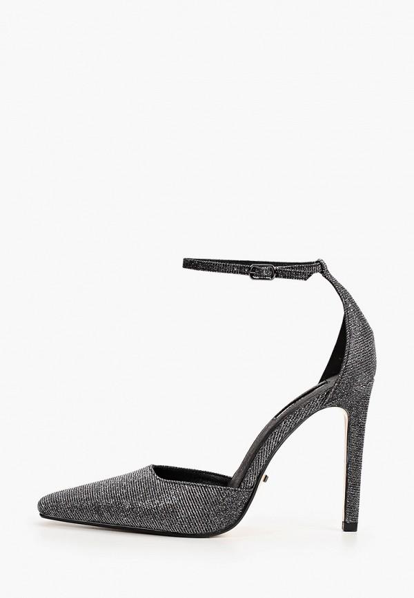 женские туфли topshop, серебряные