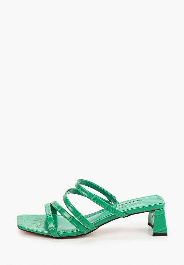 женское сабо topshop, зеленое