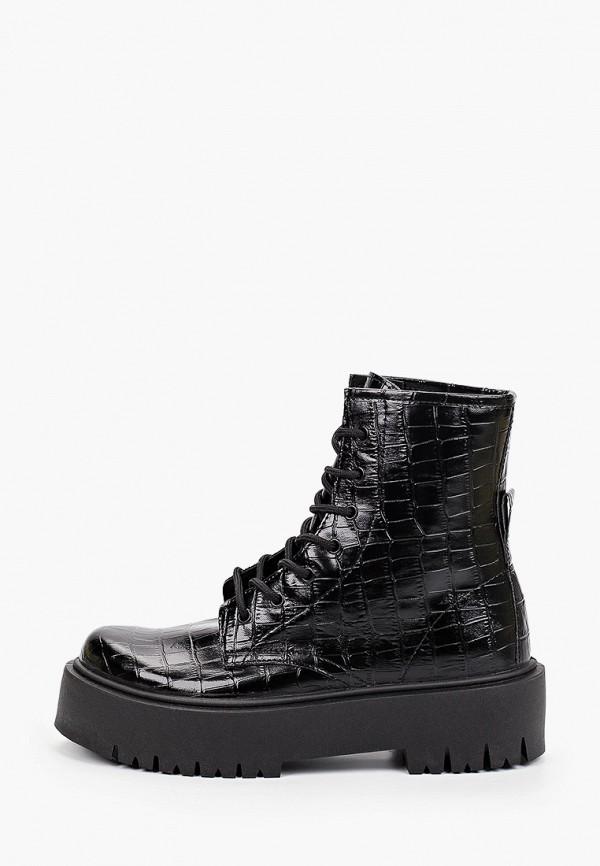женские высокие ботинки topshop, черные