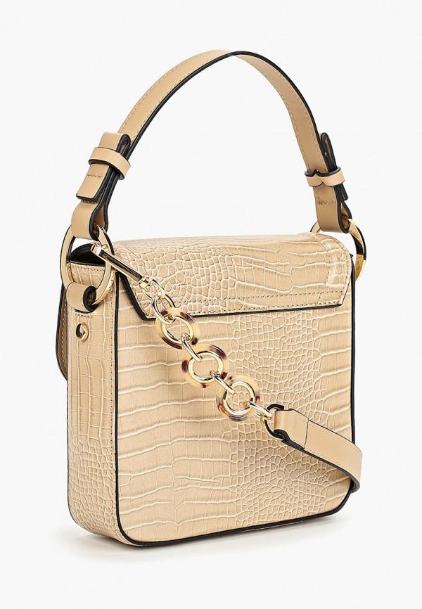 Фото 2 - женскую сумку Topshop бежевого цвета