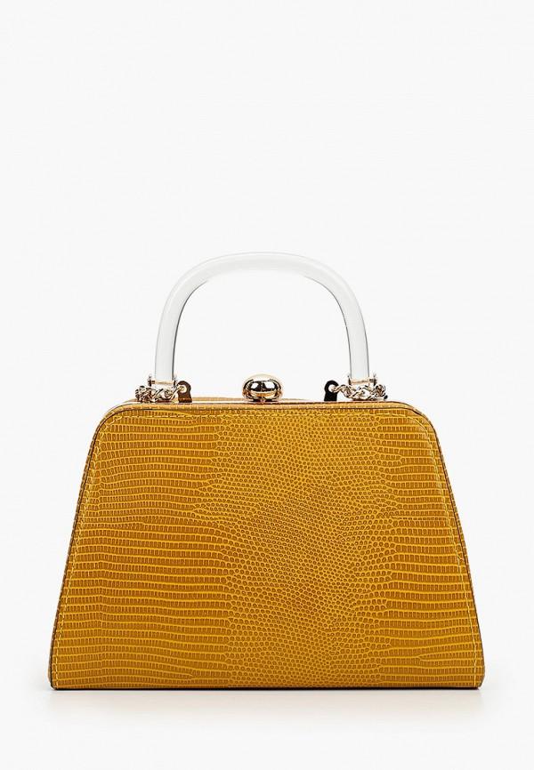 женский клатч topshop, желтый