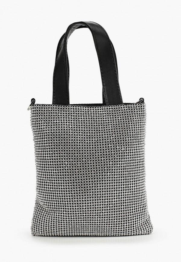 женская сумка с ручками topshop, серебряная