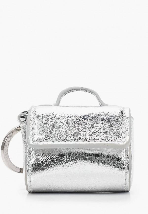 женская сумка topshop, серебряная