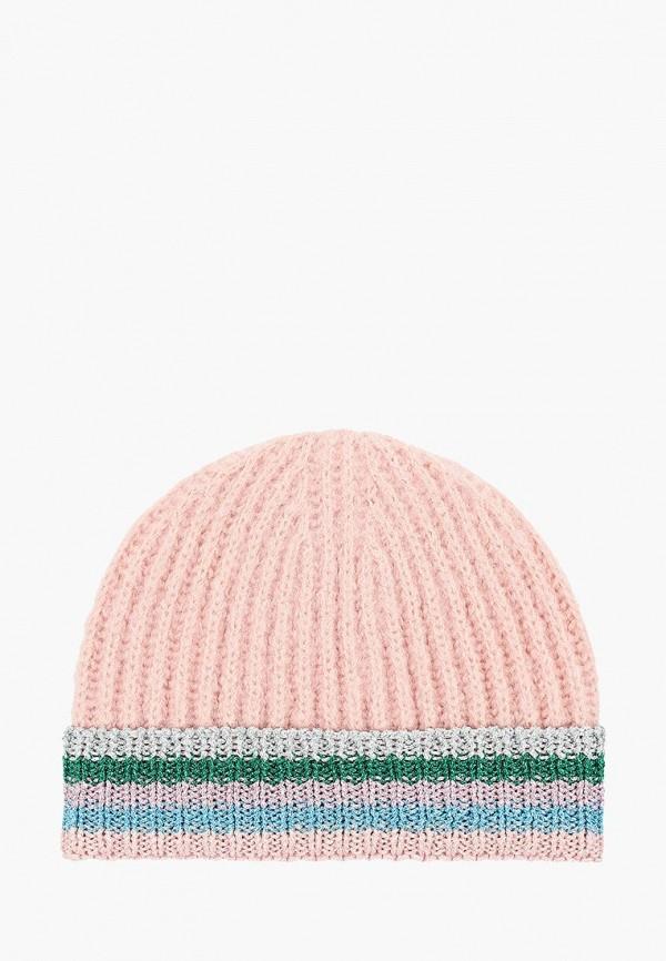 женская шапка topshop, розовая