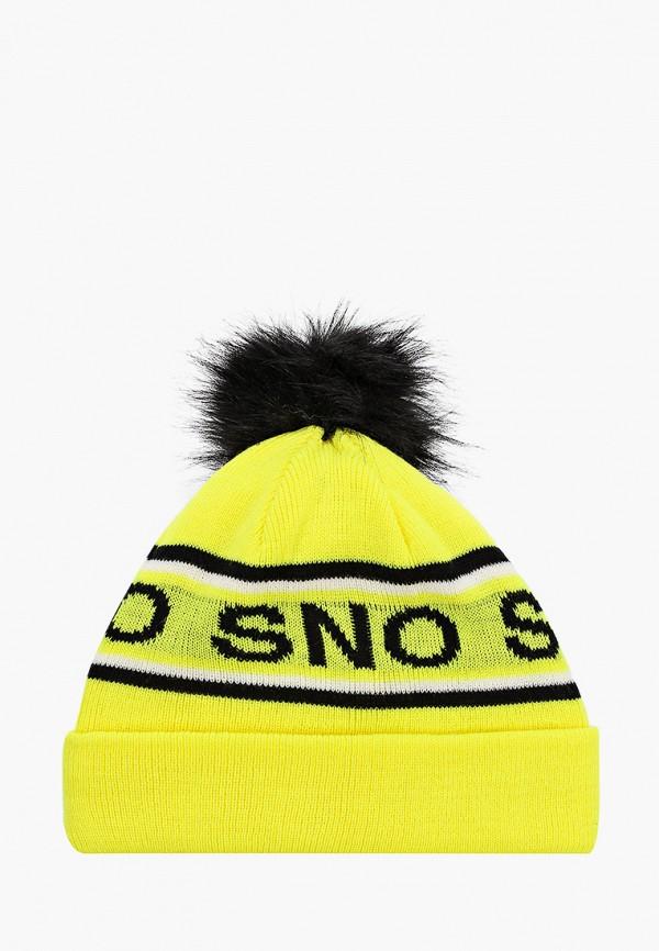 женская шапка topshop, желтая