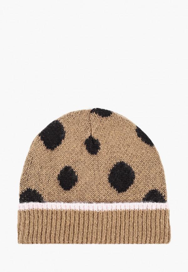 женская шапка topshop, коричневая